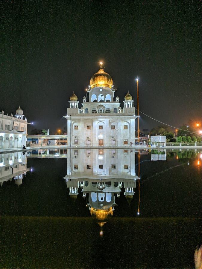 Gurudwara Delhi India fotografia stock libera da diritti