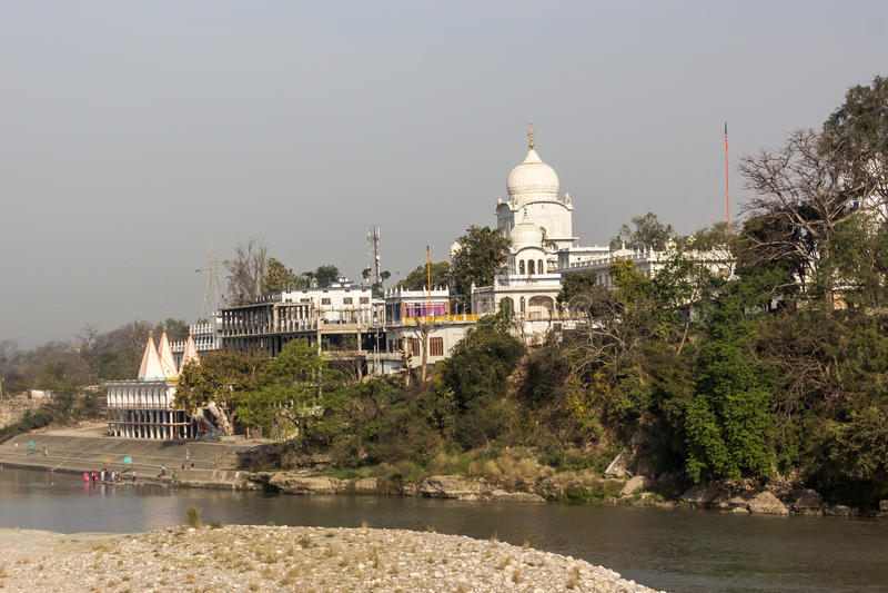 Gurudwara Shri Paonta Sahib fotos de archivo