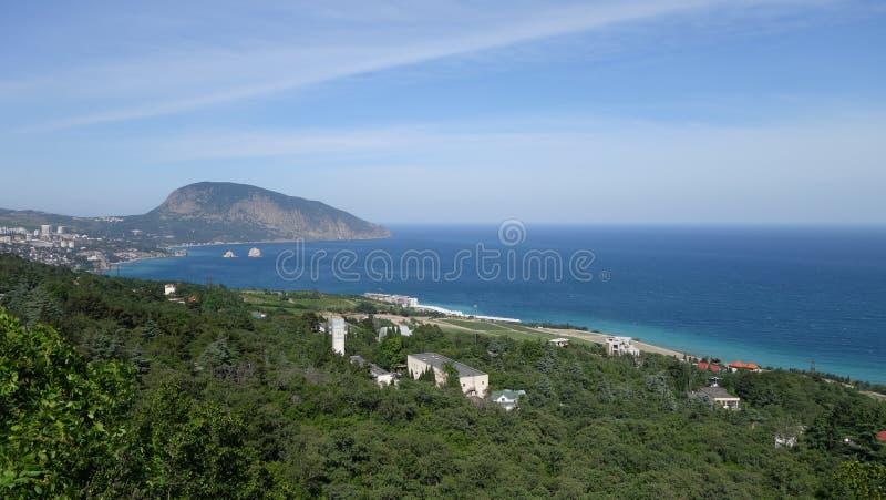 Gurzuf in de Krim stock fotografie