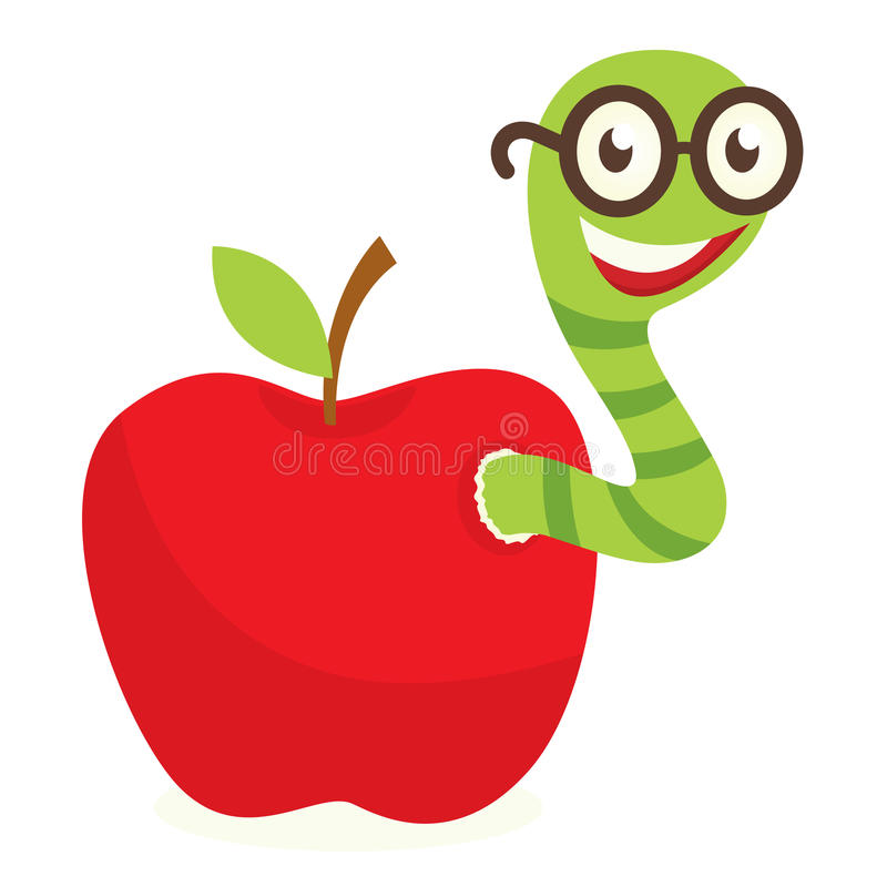 Gusano De Apple Ilustración Del Vector. Ilustración De Día