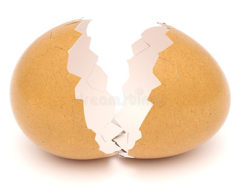 Guscio d'uovo rotto illustrazione vettoriale