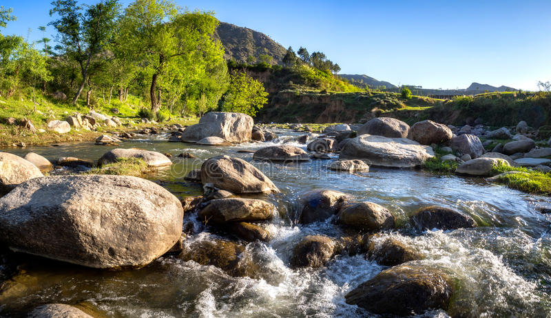 Gushing Water Stream royalty free stock image