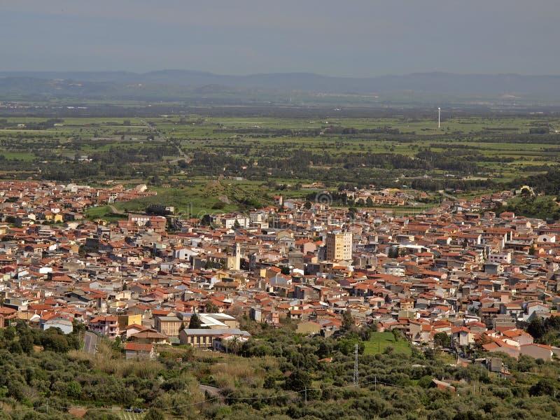 Guspini dans la province Medio Campidano, Sardaigne, Italie image libre de droits