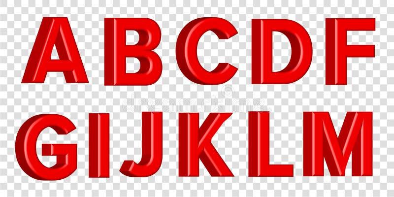 Guss stellte mit Buchstaben L glatte rosa Farbenbuchstaben ein 3D übertragen vom Blasenguß mit Schimmer Typografievektorillustrat vektor abbildung