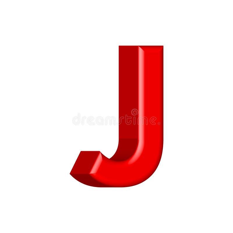 Guss stellte mit glatten rosa Farbenbuchstaben der Buchstaben J ein 3D übertragen vom Blasenguß mit Schimmer Typografievektorillu lizenzfreie abbildung