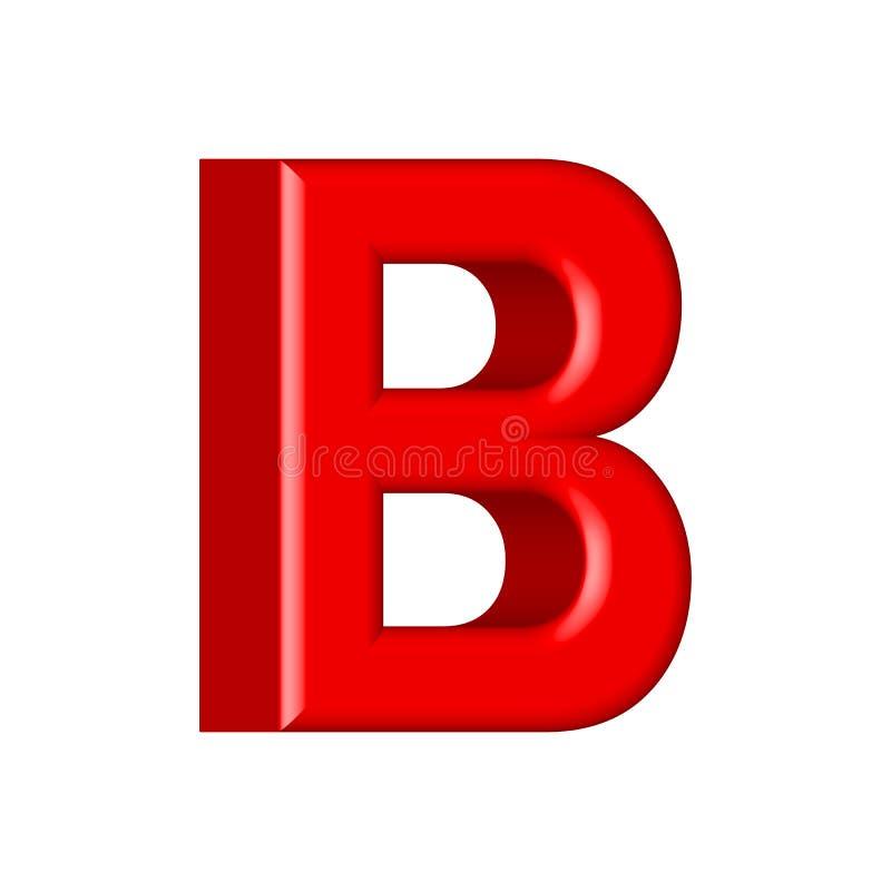 Guss stellte mit glatten roten Farbenbuchstaben der Buchstaben ein 3D übertragen vom Blasenguß mit Schimmer stock abbildung