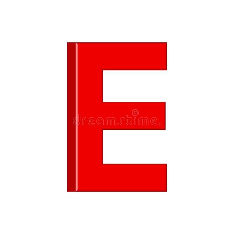 Guss stellte mit glatten roten Farbenbuchstaben der Buchstaben ein 3D übertragen vom Blasenguß mit Schimmer Typografievektorillus stock abbildung