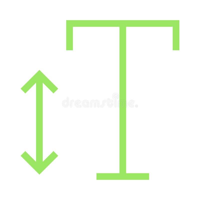 Gussgrößen-Farblinieikone vektor abbildung