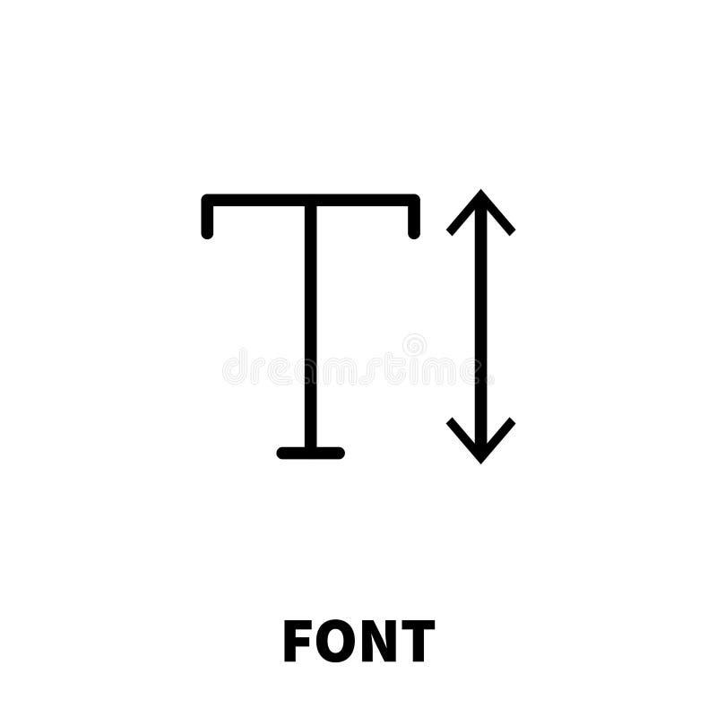 Gussikone oder -logo in der modernen Linie Art stock abbildung