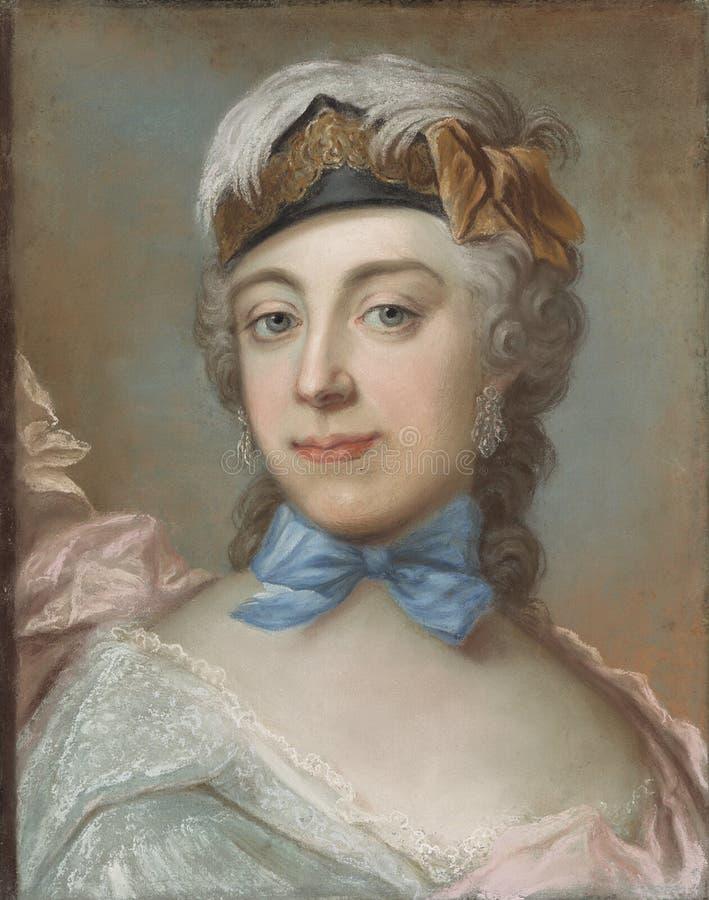 Gustaf Lundberg (1695–1786): Countess Ulrika Charlotta Sprengtporten / Kreivitär Ulrika Charlotta Sprengtporten / Gre royalty free stock photography