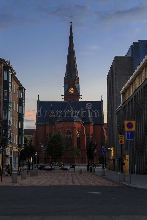 Gustav Adolf Church, Helsingborg, Sweden royalty free stock images
