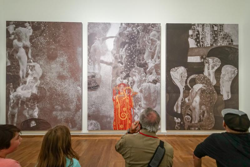 Gustav Klimt bei Leopold Museum stockbild
