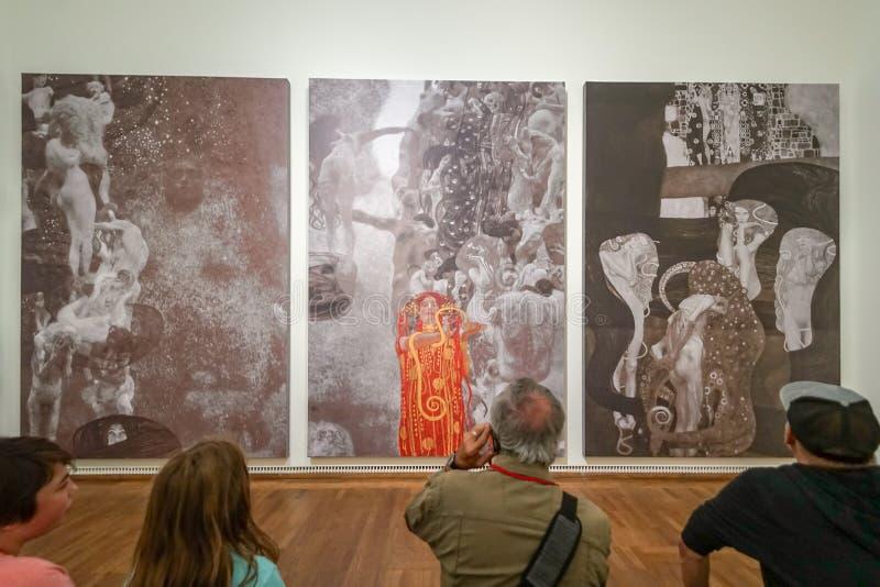 Gustav Klimt på Leopold Museum fotografering för bildbyråer