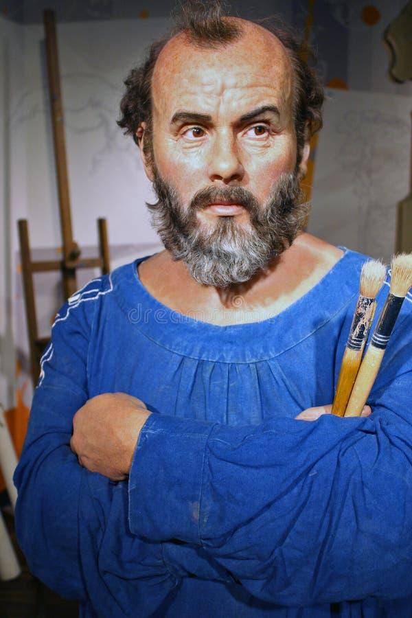 Gustav Klimt (vaxdiagram) royaltyfri fotografi
