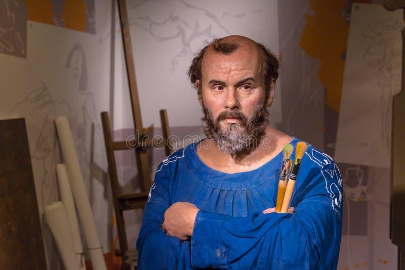 Gustav Klimt Wax Sculpture στην κυρία Tussauds στοκ φωτογραφία