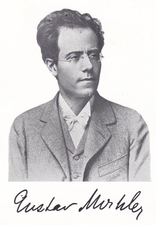 Gustav Mahler, compositor romano austro-bohemio del siglo XIX fotografía de archivo libre de regalías