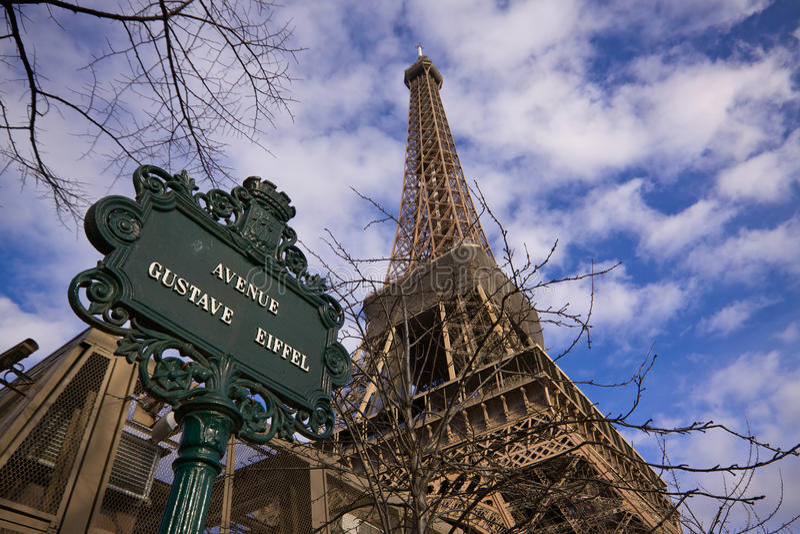 Gustave Eiffel Avenue Stock Photos