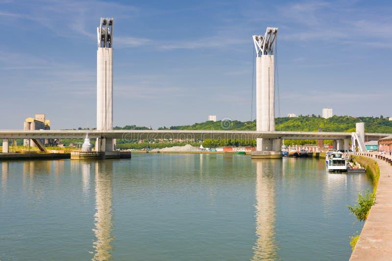 Gustave Flaubert Bridge lizenzfreie stockfotos