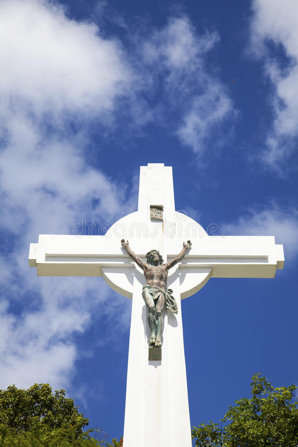 Gustavia Cross, St. Barths, French West indies stock photography