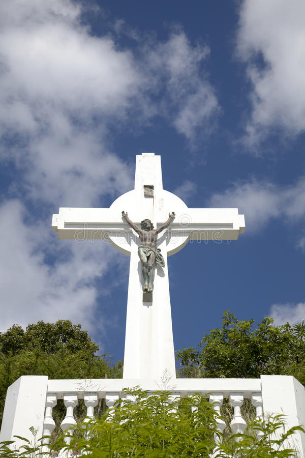 Gustavia Cross, St. Barts, French West indies. Gustavia Cross at St. Barts, French West indies royalty free stock image