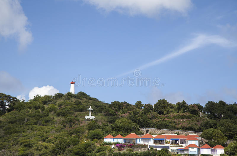 Gustavia Harbor, St. Barts, French West Indies stock image