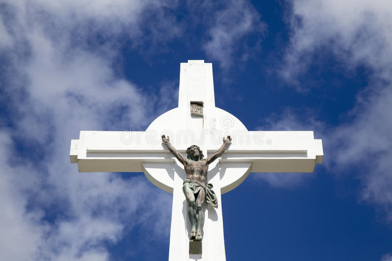 Gustavia krzyż przy St. Barths, Francuscy Zachodni indies obrazy royalty free