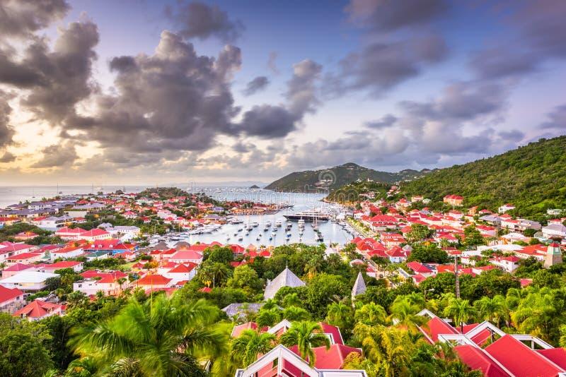 Gustavia, st Barths nei Caraibi fotografia stock libera da diritti