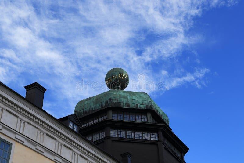 Gustavianum -大学博物馆,乌普萨拉,瑞典 图库摄影