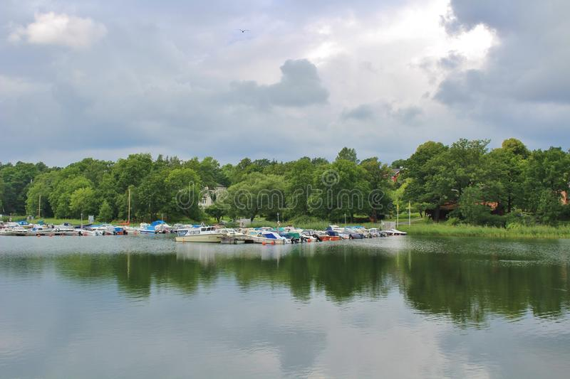 Gustavsberg. Is a village in the municipality of Värmdö, 22 km east of central Stockholm.  is located at Farstaviken on the eastern part of Varmd royalty free stock image
