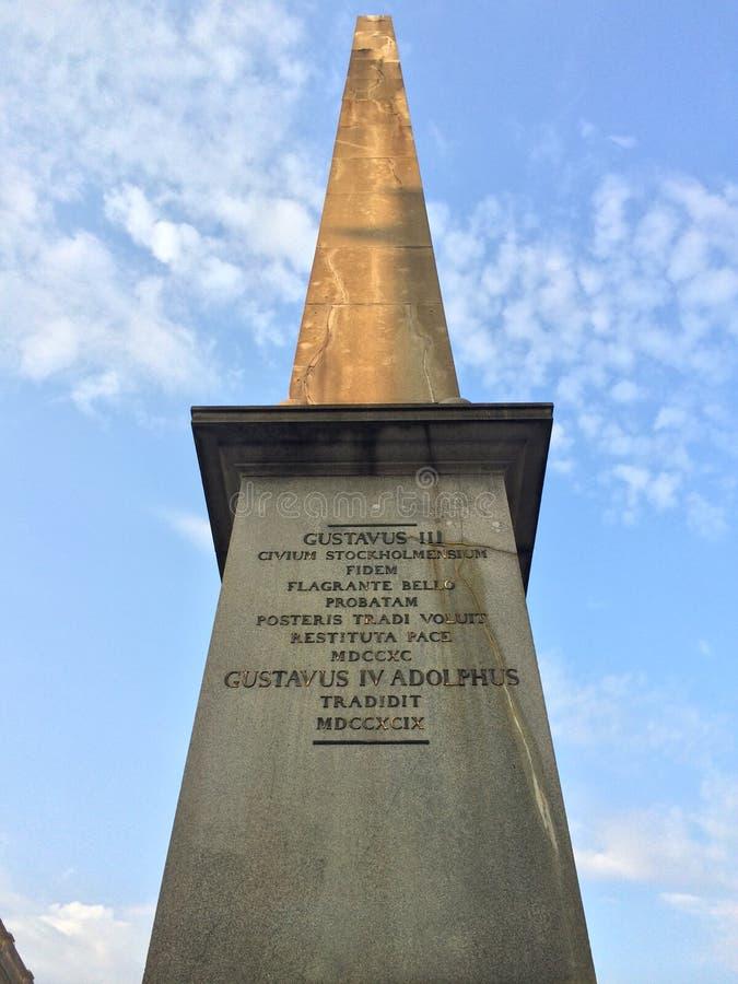 Gustavus Adolphus Landmark em Éstocolmo foto de stock