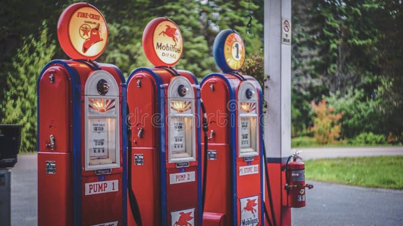 Gustavus old gas stock photo