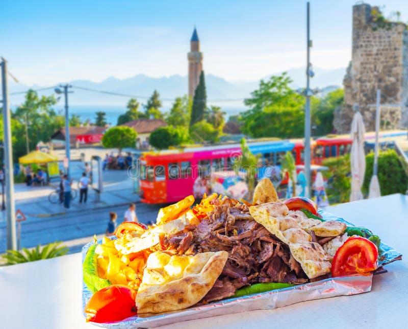 Gusto del kebab del doner, Antalya, Turquía foto de archivo libre de regalías