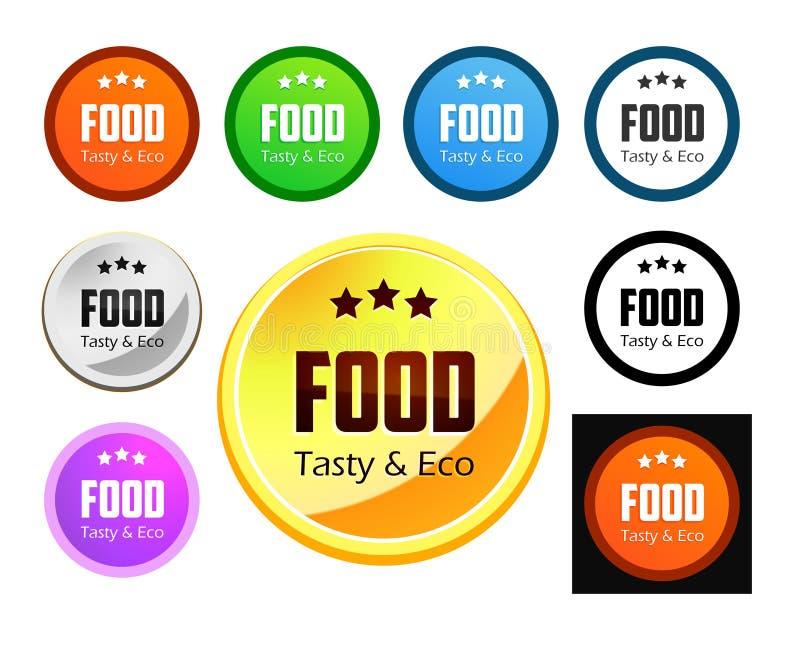 Gusto y comida de Eco stock de ilustración