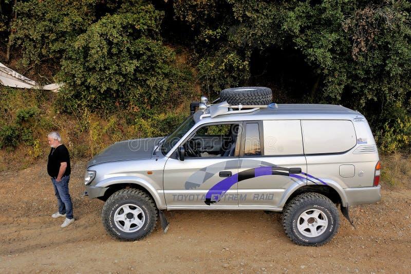 Gut ausgerüstetes Toyota Gelände lizenzfreies stockbild