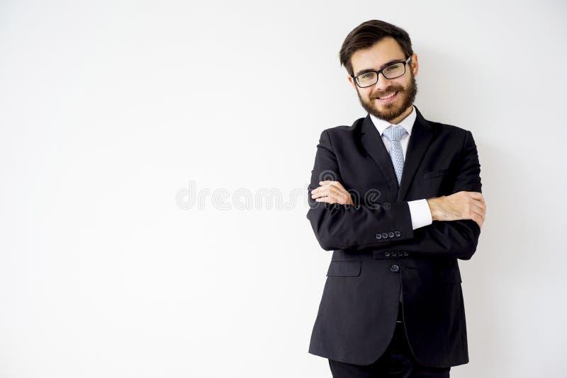 Gut aussehender Mann in einer Klage stockfotos