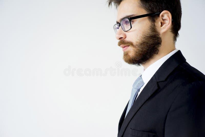 Gut aussehender Mann in einer Klage lizenzfreies stockfoto