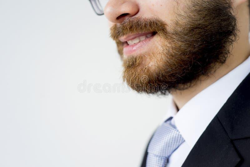 Gut aussehender Mann in einer Klage stockbilder