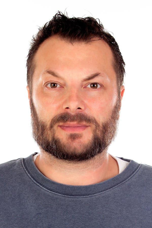 Gut aussehender Mann mit Bart I lizenzfreies stockfoto