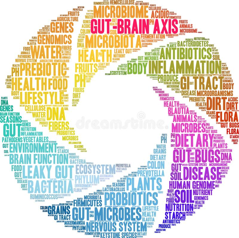 Free Gut-Brain Axis Word Cloud Stock Photography - 151645762
