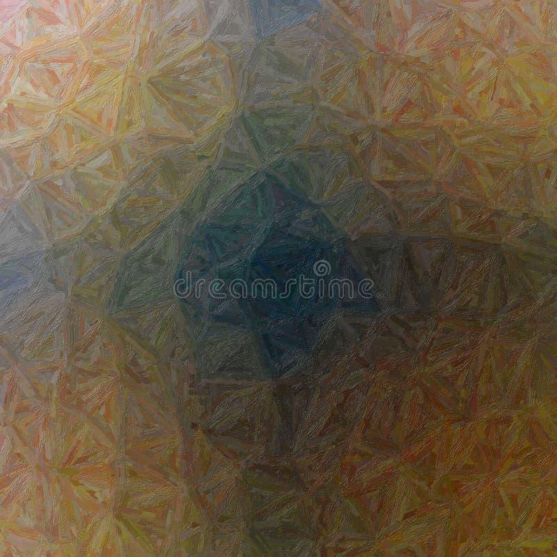 Gute abstrakte Illustration brauner bunter Impasto-Farbe Reizender Hintergrund für Ihr Projekt lizenzfreie abbildung