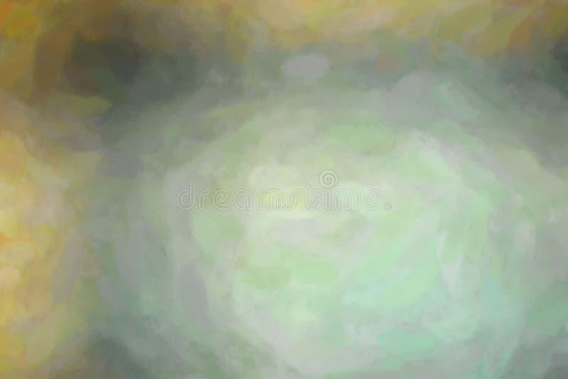 Gute abstrakte Illustration der gelben, grauen und schwarzen Aquarellwäschefarbe Schöner Hintergrund für Ihre Drucke lizenzfreie abbildung