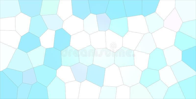 Gute abstrakte Illustration des blauen, grünen und weißen großen Pastellhexagons Reizender Hintergrund für Ihr Projekt stock abbildung