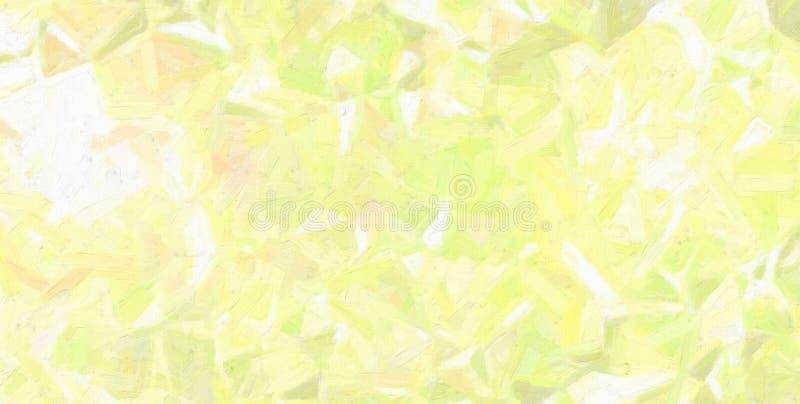 Gute abstrakte Illustration des gelben und grünen Ölgemäldes mit großer Bürstenfarbe Nützlicher Hintergrund für Ihre Arbeit stock abbildung
