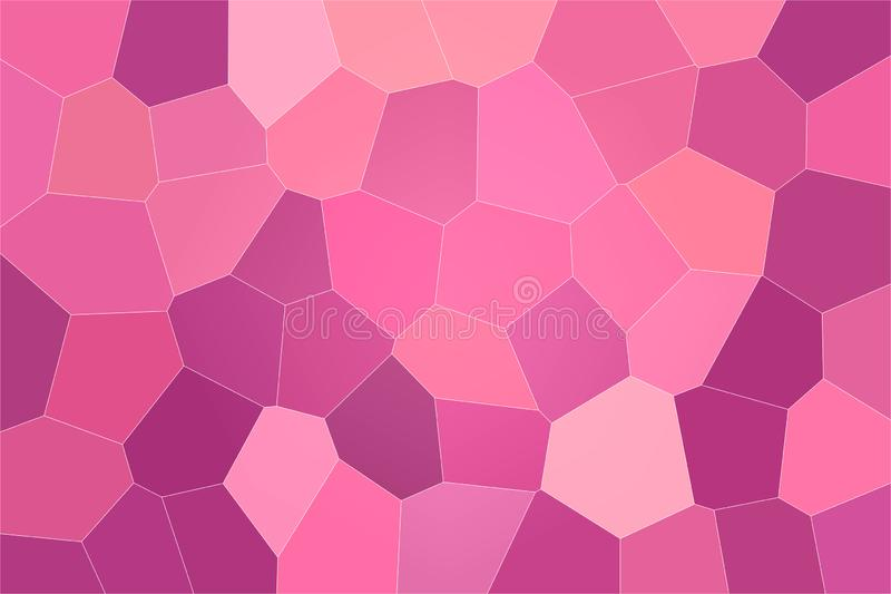 Gute abstrakte Illustration des roten, purpurroten und magentaroten großen Pastellhexagons Nützlicher Hintergrund für Ihre Arbeit lizenzfreie abbildung