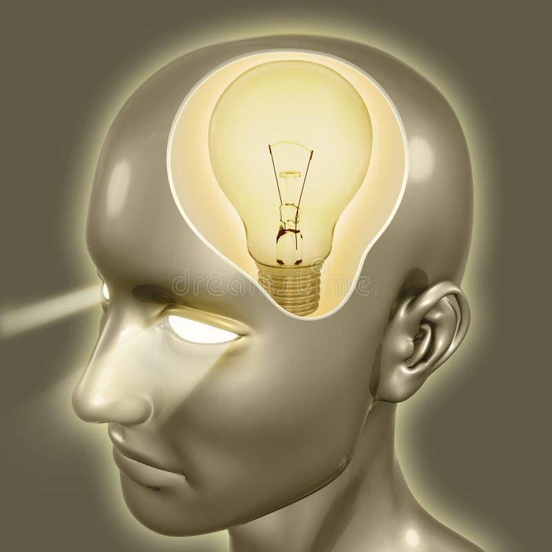 Gute Idee (Glühlampe) lizenzfreie abbildung