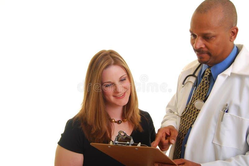 Gute Nachrichten von Ihrem Doktor stockfotos
