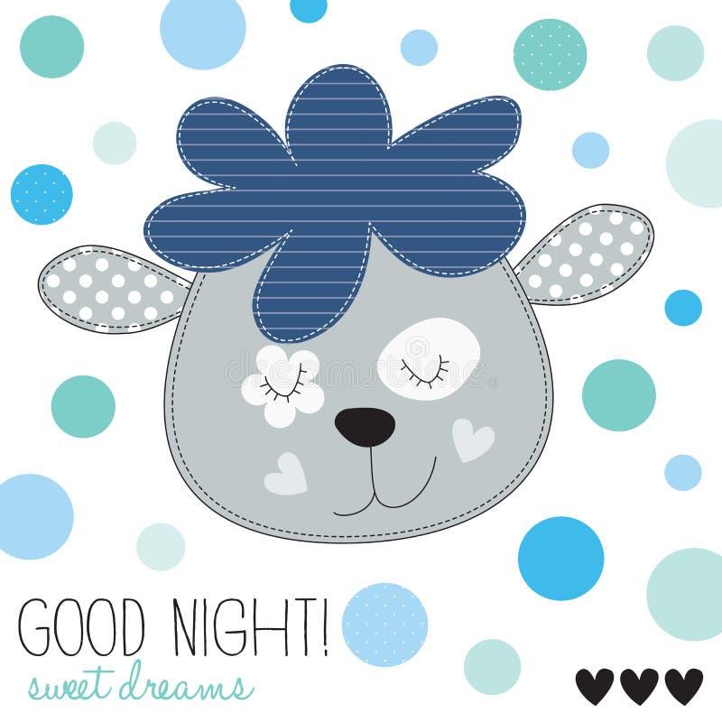 Gute Nachtschafvektorillustration stock abbildung