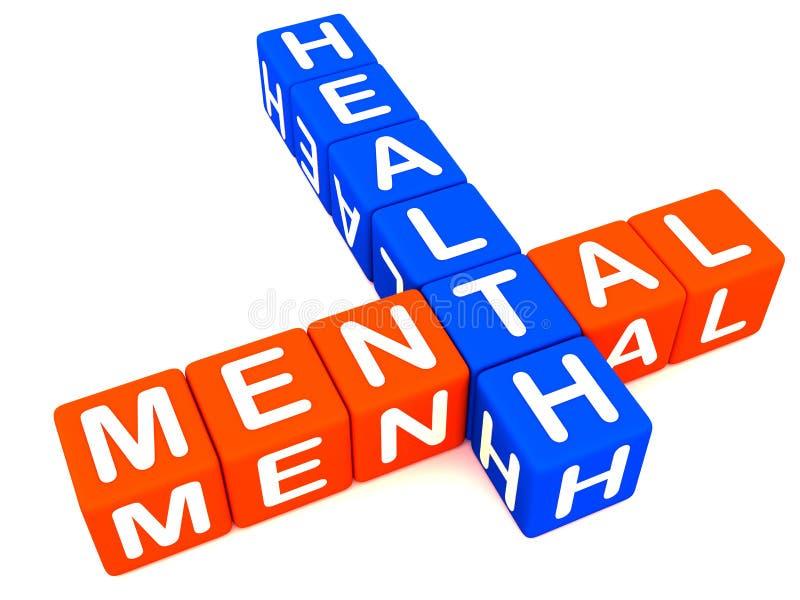 Gute psychische Gesundheiten stock abbildung