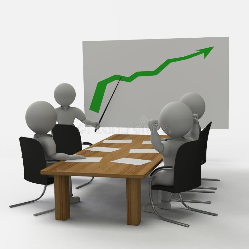 Gute Sitzung im Büro stock abbildung