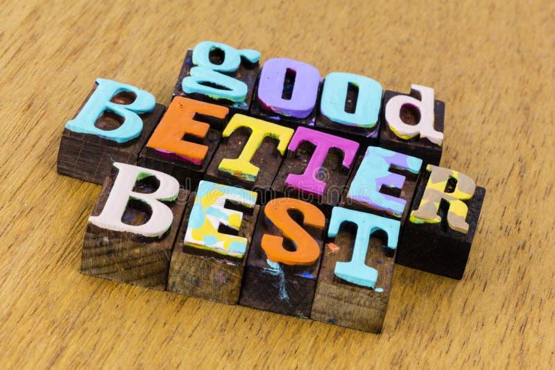 Gute Wahl besser für den besten Erfolg lizenzfreies stockbild